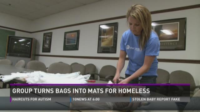 Everyday Acts: From bags into mats for homeless