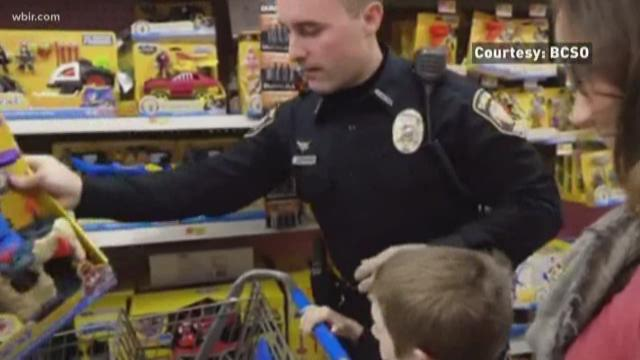 Kids participate in Shop with a Cop