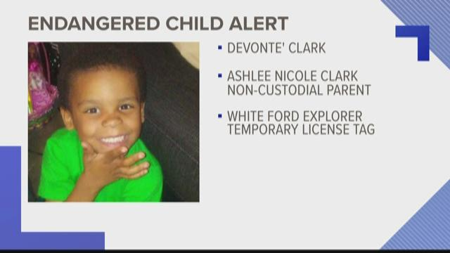 Endangered child alert issued for Knoxville five-year-old