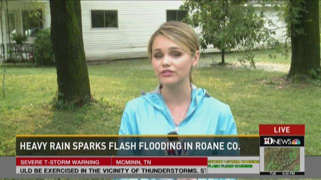 Heavy rain sparks flash Flooding in Roane Co.