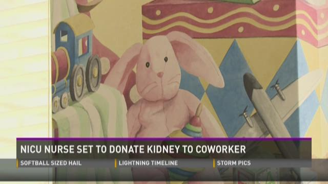 NICU nurse set to donate kidney to co-worker