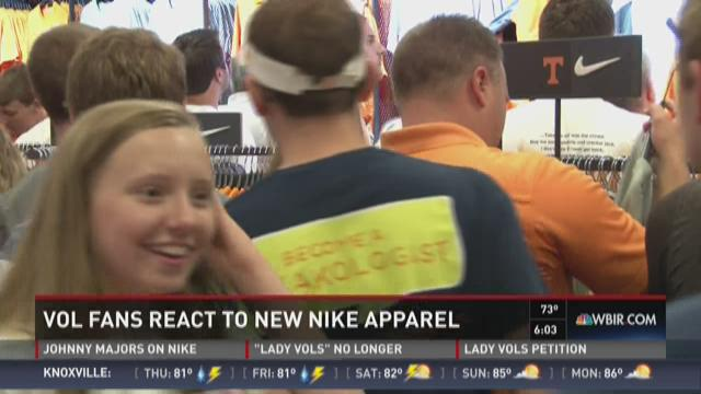 Vol Fans react to New Nike Apparel