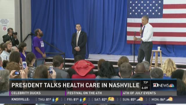 President Obama talks healthcare in Nashville