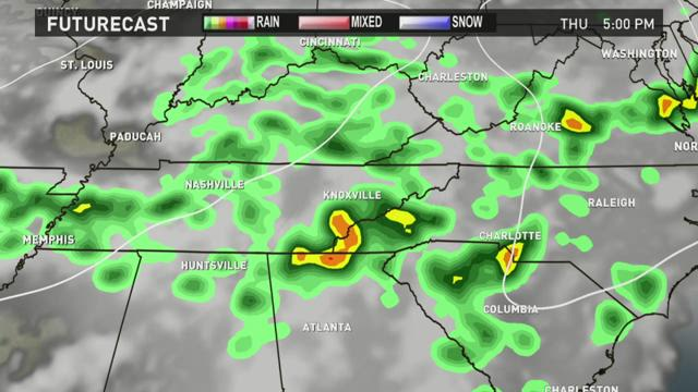 Rainfall possible Thursday and Friday