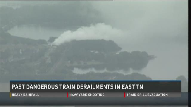 Past train derailments in East Tennessee