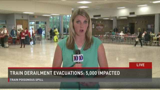 Red Cross shelter set up at Heritage High School in Maryville