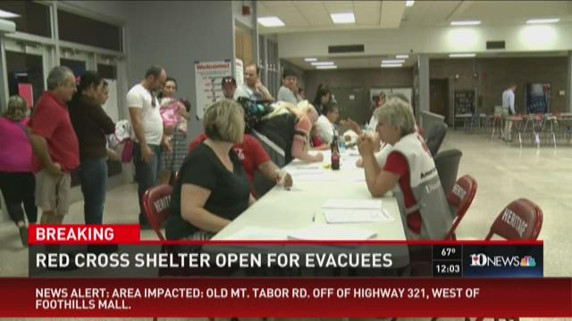 Red Cross shelter open for evacuees