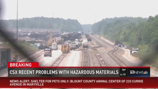 CSX has recent problems with hazardous materials