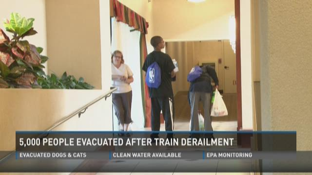 Some 5,000 out of homes because of train car derailment