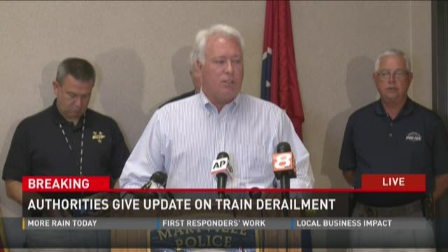 Authorities give update on train derailment