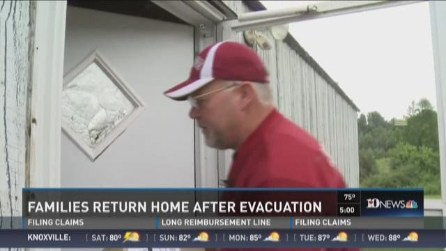 Families return home after evacuation