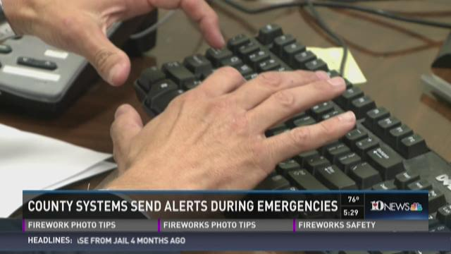 County systems send out alerts during emergencies