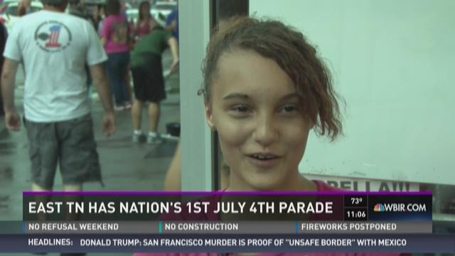 East Tenn stages nation's first July 4 parade of holiday
