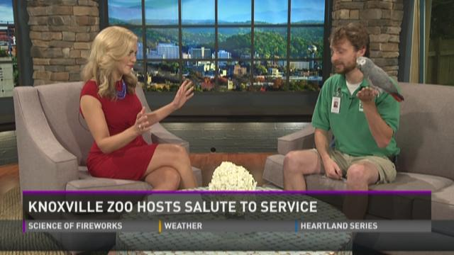 Knoxville Zoo salutes military and civilian service members and veterans with free admission all weekend. Police, fire, emergency medical technicians (EMTs) and paramedics are eligible as well. 7/4/15