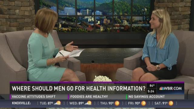Where should men go for health information