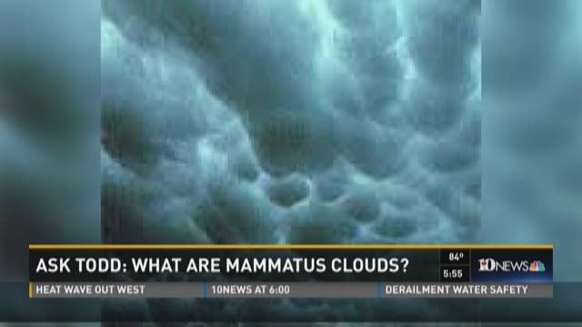 Ask Todd: Rain fall and Mammatus clouds