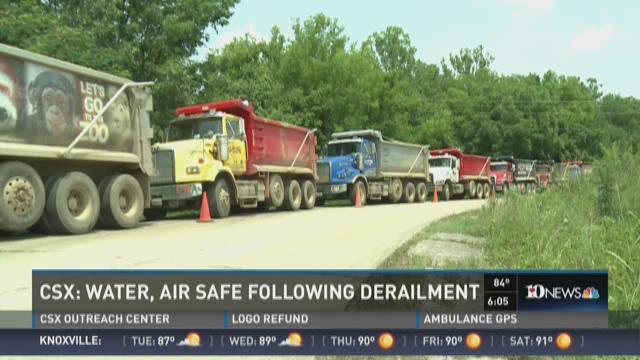 CSX: Water, air safe following derailment