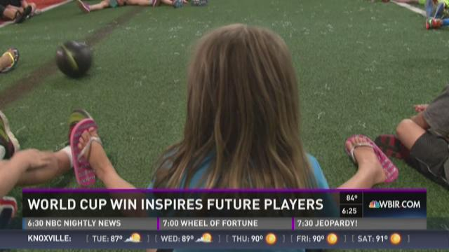 And Finally: World Cup win inspires future players