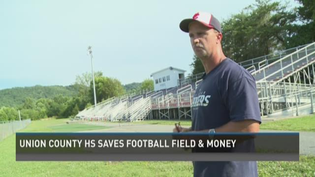 Union County High saves football field, money