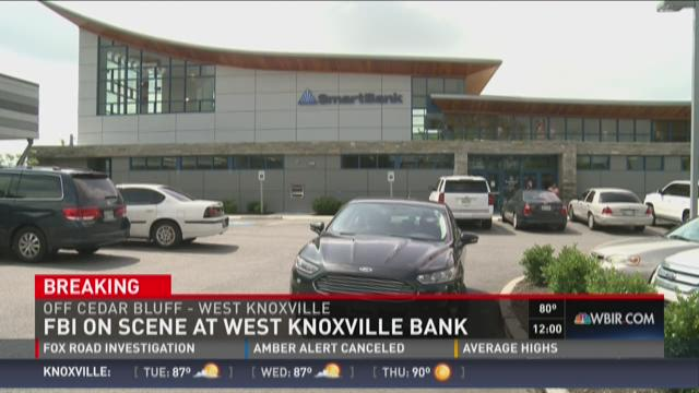 FBI on scene at West Knoxville Bank