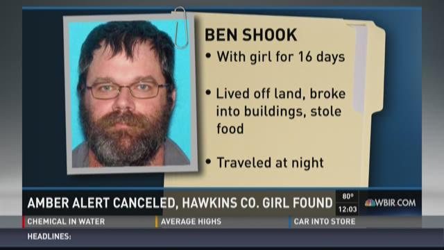 Amber Alert canceled, Hawkins County girl found