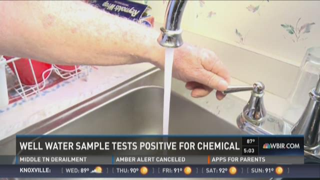 Well water sample tests positive for chemical