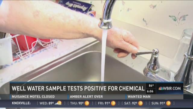 Sample from 1 water well tests positive for chemical