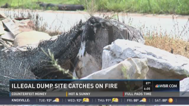 Illegal Blount County dump site catches fire