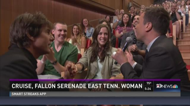 Tom Cruise, Jimmy Fallon serenade East Tennessee woman