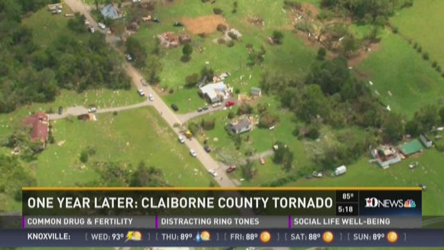 One year later: Claiborne County tornado