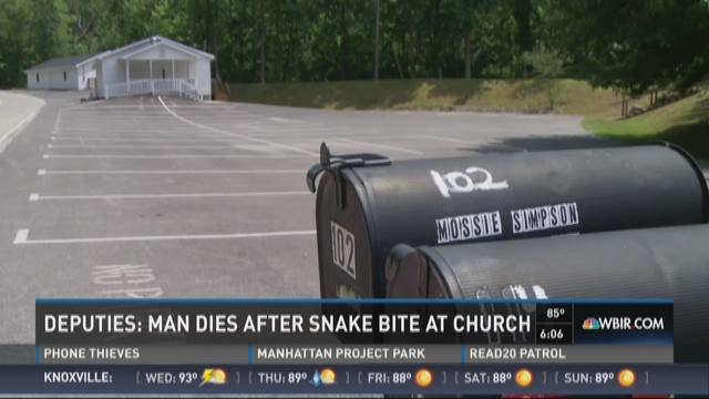 Man dies after snake bite at church