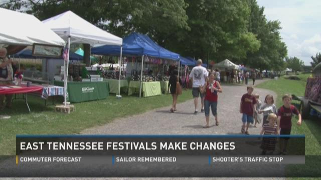 East Tennessee festivals make changes