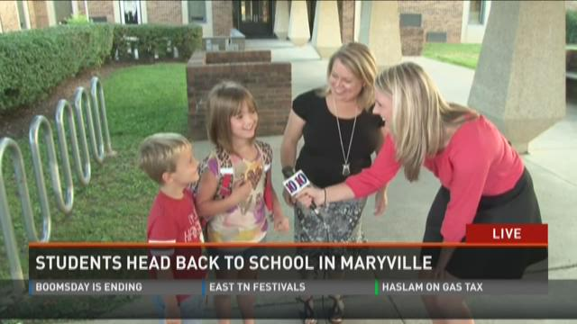 Students head back to school in Maryville
