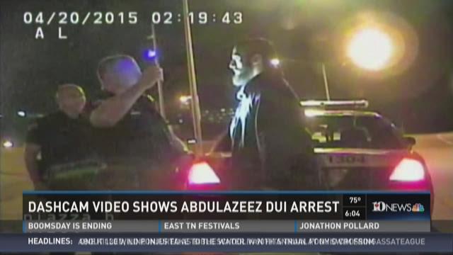 Dashcam video shows Abdulazeez DUI arrest
