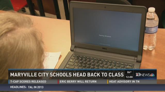 Maryville City Schools head back to class