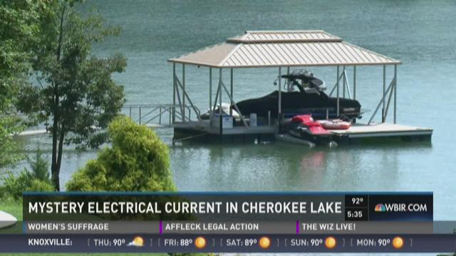 Mystery electrical current in Cherokee Lake