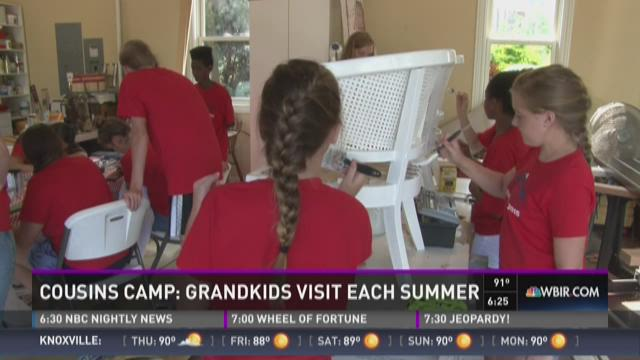 And Finally: Cousin Camp- Grandkids visit each summer