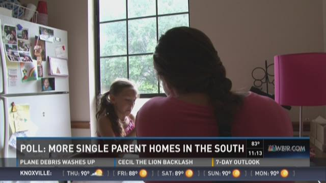 Poll: More single parent homes in the South