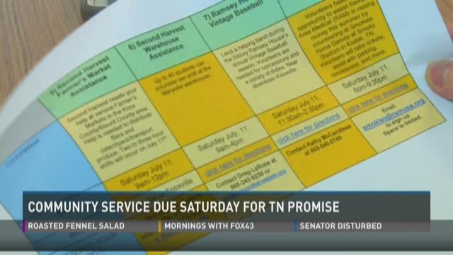 Community service hours due August 1 for TN Promise