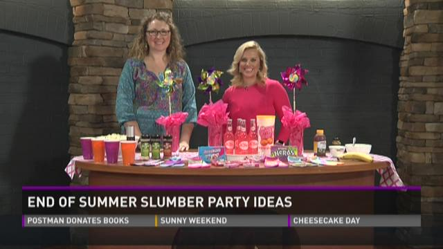 End of summer slumber party ideas