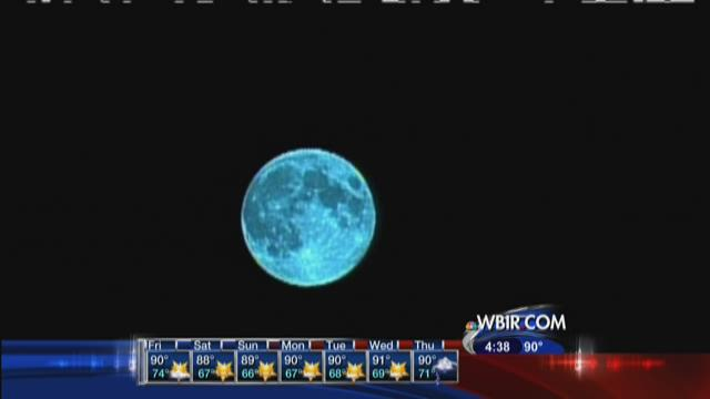 Rare Blue Moon on July 31