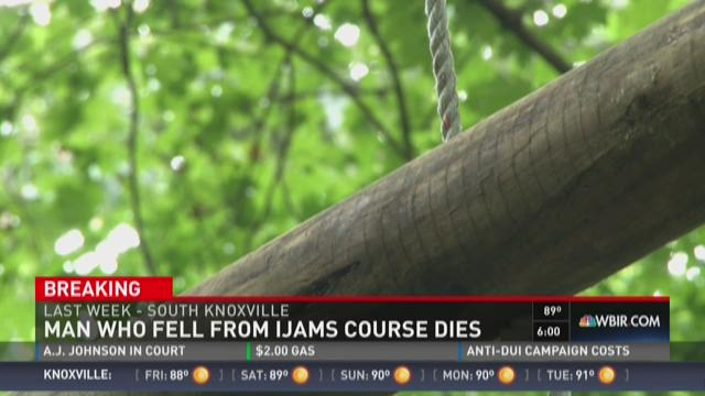 Man who fell from Ijam course dies