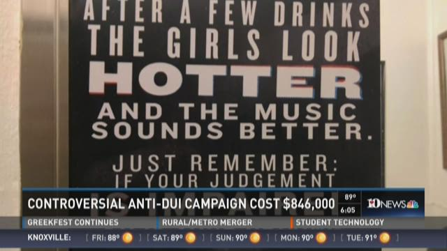 Controversial anti-DUI campaign cost $846K