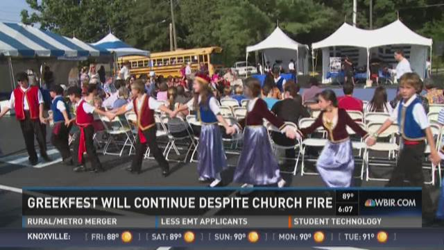 Greekfest will continue despite church fire