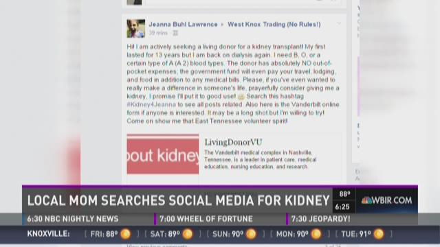 And Finally: Mom searches social media for kidney donor