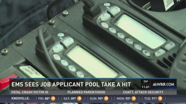 EMS sees job applicant pool take a hit