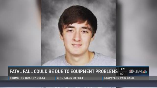 Fatal fall could be due to equipment problems