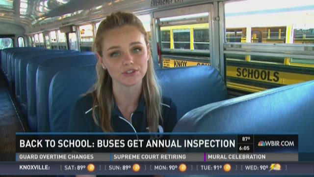 Back to school: Buses get annual inspection