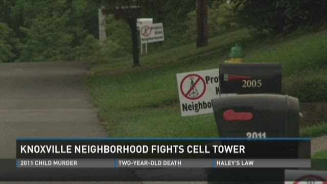 Knoxville neighborhood fights cell tower