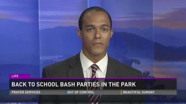 Back to school bash parties in the park